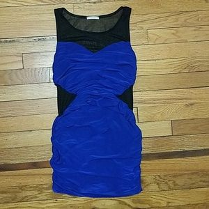 Royal Blue and Black Dress
